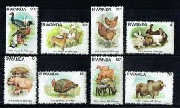 1978  Année De L'élevage: Canards, Chèvres, Poules, Lapins, Cochons, Dindons, Moutons Et Bétail, -  Série Complète ** - Rwanda