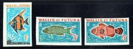 1982  Timbres-taxe Non-dentelés  Poissons Yv T37a-39a** - Wallis And Futuna