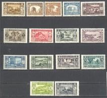 Grand Liban: Yvert N° 128/148*; 15 Valeurs - Grand Liban (1924-1945)