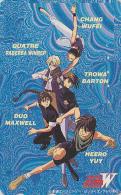 Télécarte Japon - MANGA - GUNDAM / WING - Les 5 Personnages - ANIME Japan Phonecard Telefonkarte / 110-011 - 7316 - Cinema