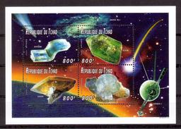 JP113    Republique Du Tchad 1997, Minerals, 4 Val - Minerals