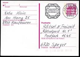 GABLONZER MODESCHMUCK Kaufbeuren 1990 Auf Postkarte Bund P 135 II - Arte