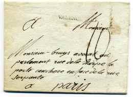 MP VALENCE D'AGEN / Lenain N°3 / Taxe 10 Sols / Superbe Cachet De Cire Au Verso - 1701-1800: Precursores XVIII