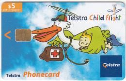 AUSTRALIA(chip) - Telstra Child Flight, Exp.date 30/06/05, Used - Australia