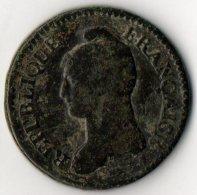 """Un Décime """"Modification"""" AN 4 A..Belle Monnaie - 1789-1795 Period: Revolution"""