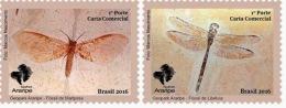 BRAZIL 2016  -  ARARIPE  GEOPARK   -  2v   MNH - Papillons