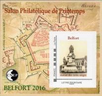 CNEP N° 71 De 2016 - Bloc Autoadhésif ( ___ A ) - Salon De Printemps à Belfort - Statue Des 3 Sièges - CNEP