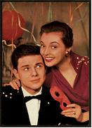 Ca. 1958  -  Sammelbild OK-Kaugummi  -  Nadja Tiller / Walter Giller  -  Bild Nr. 47 - Süsswaren