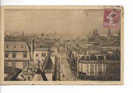 75 PARIS Série 12 N° 224 : Perspective Sur Paris Et La Rue Saint-Jacques / CPA Voy. Tachée !! - Multi-vues, Vues Panoramiques