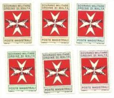1975 - 11/16 Segnatasse SMOM - Sovrano Militare Ordine Di Malta