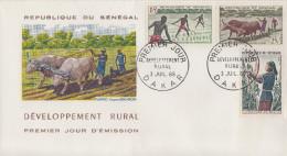 Enveloppe  FDC  1er  Jour   SENEGAL   Développement  Rural   1965 - Sénégal (1960-...)