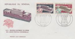 Enveloppe  FDC  1er  Jour   SENEGAL   Nouveau  Siége  De  L' U.P.U   1970 - Sénégal (1960-...)