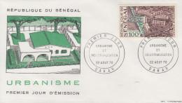 Enveloppe  FDC  1er  Jour   SENEGAL   L' URBANISME  1970 - Sénégal (1960-...)