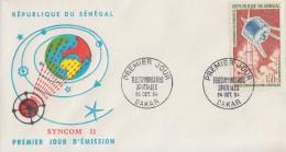 Enveloppe  FDC  1er  Jour   SENEGAL   Télécommunications   Spatiales   1964 - Sénégal (1960-...)