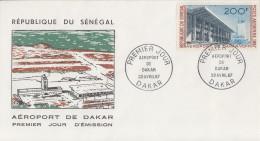 Enveloppe  FDC  1er  Jour   SENEGAL   Aéroport  De  DAKAR   1967 - Sénégal (1960-...)