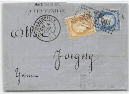 LETTRE AVEC CERES DENTELEE  PUBLICITEE AU VERSO CLAUDE LAFONTAINE CHARLEVILLE ARDENNES COVER FRANCE - Postmark Collection (Covers)