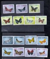 CUBA Nº 881 Al 895 - Papillons