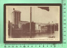 PARIS: Façade De CP Collée Sur Carton, Exposition 1937 Pavillons De L'Allemagne Et Du Portugal - Mostre