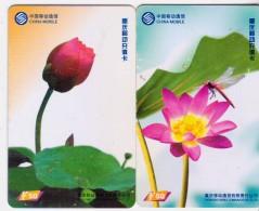 China 2004 Telecom Phonecards Lotus 2V - Flowers