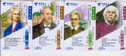 China 2005 Telecom Phonecards World Famous Scientists 4V - China