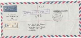 Port-Vila 1965 Service Des Postes - Recommandé Registered - Lettre Cover Brief - Hebrides - French Legend