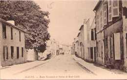 MAUZE - Route Nationale Et Statue De René Caillé - Mauze Sur Le Mignon