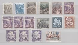 ANDORRE ESPAGNOL LOT 16 TIMBRES NEUFS ** ET OBLITERES - Collections