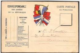 Francia/France: Franchigia Militare, Military Franchise, Franchise Militaire - Bandiere, Flags, Drapeau - Buste