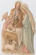 Découpi, Relief. NOËL, Crêche: La Sainte Famille, L'ange Et L'agneau. - Motif 'Noel'