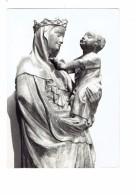 63 - RIOM - église Notre-Dame - VIERGE A L OISEAU - Statue Femme Enfant - - Vergine Maria E Madonne