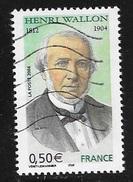 N° 3729  FRANCE  -  OBLITERE  -  HENRY WALLON -  2004 - France