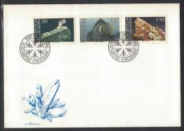 JP117        MINERALS -  LIECHTENSTEIN FDC 1989 - Minerals