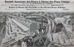 53 SA Des Fours à Chaux Des Feux-Vilaine St Pierre La Cour & Laval Publicité Illustrée éditeur La Société - France