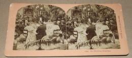 PHOTO STEREO FIN XIX ème B.W. KILBURN à LITTLETON - Le Petit Déjeuner De Mariage - Stereoscopi