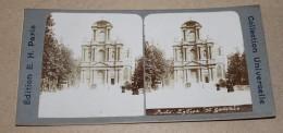PHOTO STEREO FIN XIX ème édition E.H Paris - Paris L'église St Gervais - Stereoscopi