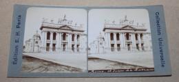 PHOTO STEREO FIN XIX ème édition E.H Paris - Rome  Saint-Jean-de-Latran - Stereoscopi