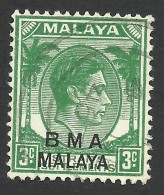 Malaya, BMA, Straits Settlements 3 C. 1945, Sc # 258, Mi # 3, Used - Malaya (British Military Administration)