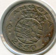 Angola 2 1/2 2,5 Escudos 1953 KM 77 - Angola