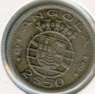 Angola 2 1/2 2,5 Escudos 1956 KM 77 - Angola