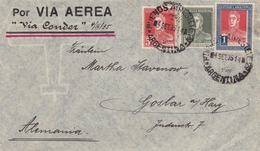 Lettre Argentine Argentina Via Condor Astra Compania Argentina De Petroleo Pétrole Buenos Aires 1935 - Argentine