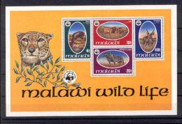 W22 WWF W.W.F. Malawi MNH Souvenir Sheet 1978 : Endangered Animals - W.W.F.