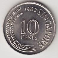 @Y@    Singapore   10 Cents  1982  (3821) - Singapore
