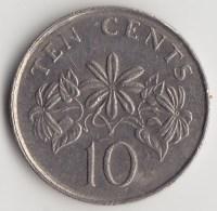 @Y@    Singapore   10 Cents  1986  (3822) - Singapore