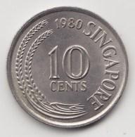 @Y@    Singapore   10 Cents  1980  (3823) - Singapore