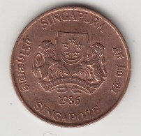 @Y@    Singapore   1  Cent  1986  (3828) - Singapore