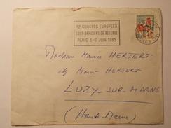 Marcophilie - Lettre Enveloppe Obliteration Timbre - 1er Congrés Européen Sous Officiers Réserve - 1965 (868) - Marcophilie (Lettres)