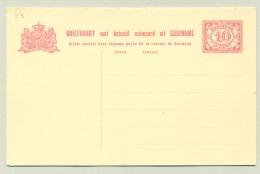 Suriname - 1926 - 10 + 10 Cent Briefkaart, G33 Ongebruikt - Suriname ... - 1975