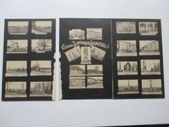 AK / Klappkarte / Mehrbildkarte Mit 25 Bildern!! 1910 Gruss Vom Schlachtfeld Gravelotte. Verschiedene Denkmäler! - Lothringen
