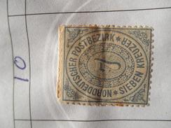Nord Deutsche Bund Michel Ꙩ 10 - North German Conf.