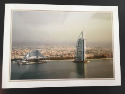 Dubai Burj Al Arab And Jumeirah Hotel Beach Resort Verso Stamp Front/back - Dubai